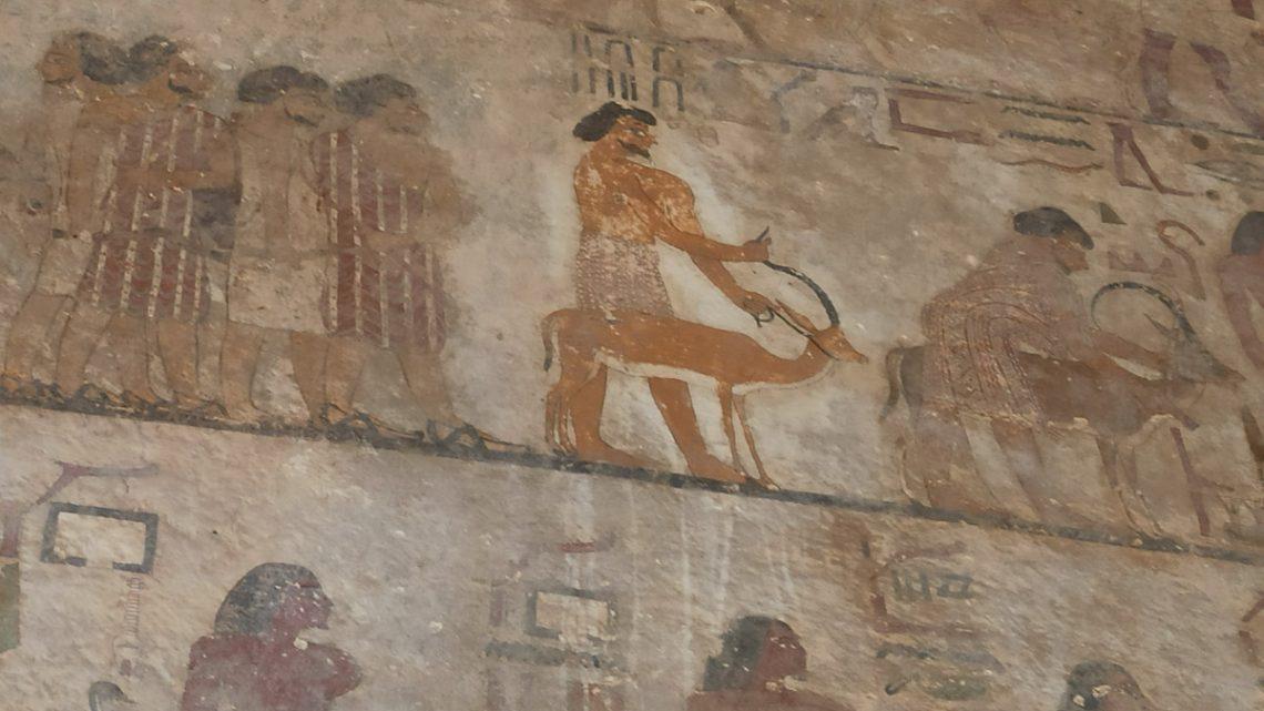 Часть росписи вгробнице Хнумхотепа II: азиатские торговцы