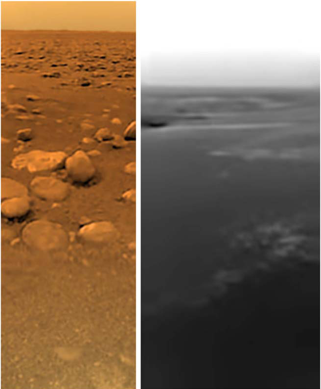 Huygens Titan surface images