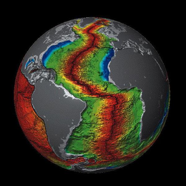 Oceanic crust age at Mid-Atlantic Ridge