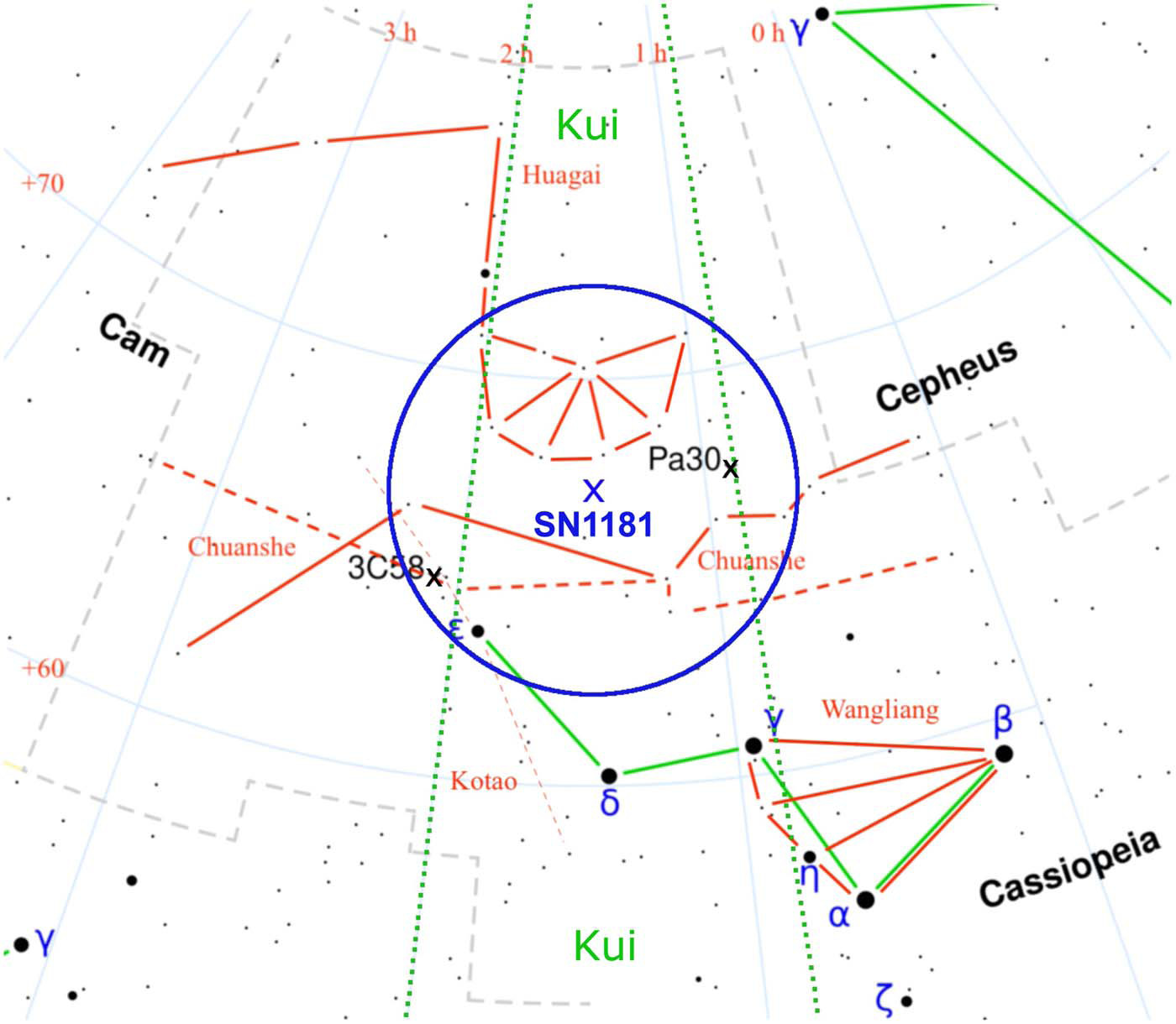 SM1181 star chart with Chinese asterisms