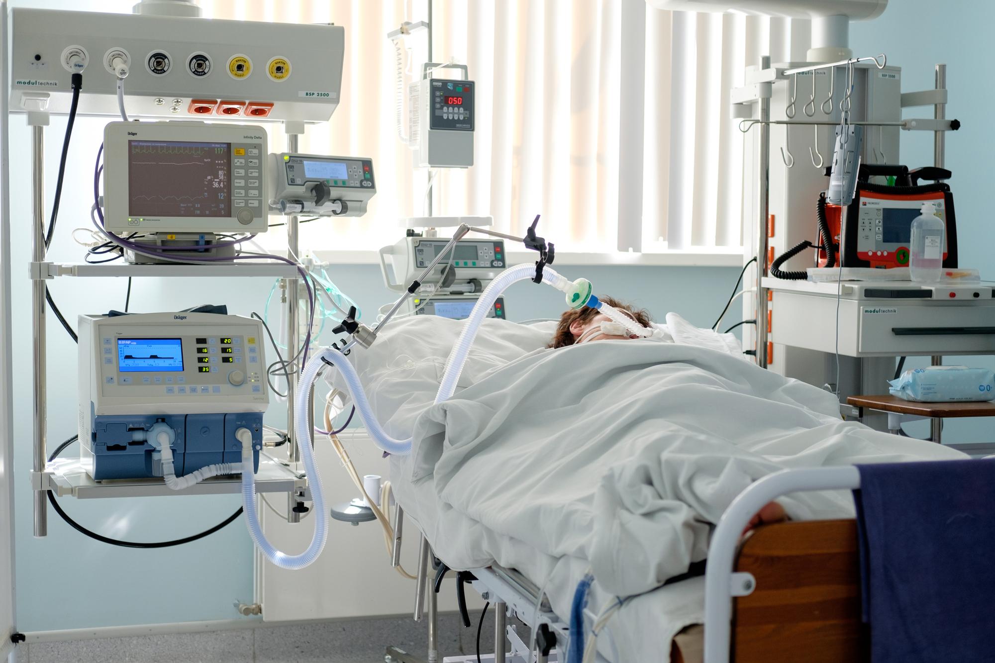 Палата интенсивной терапии вГродненском кардиологическом центре, Беларусь.