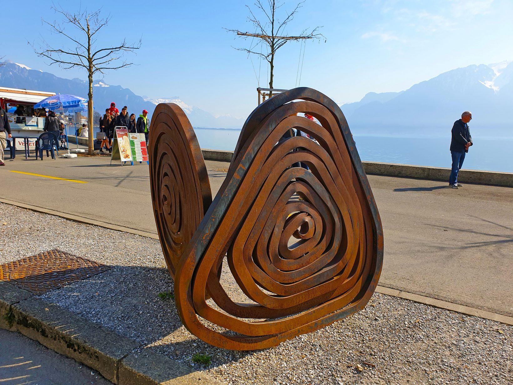 Vevey Lorenz attractor monument